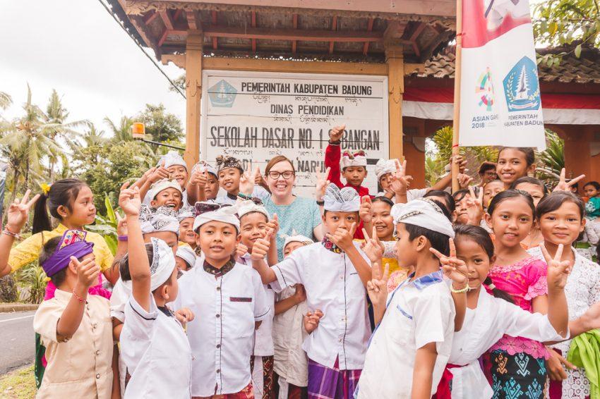 Visiting my sponsor child in rural Bali