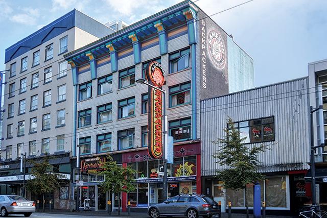 Samesun Backpackers, a budget Vancouver accommodation option