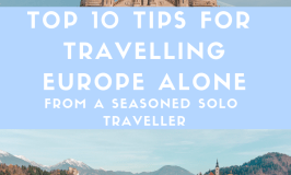 Check out my top 10 tips for travelling in Europe alone, which are a resource for both first time and frequent solo female travellers.