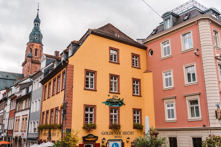 Colourful buildings in Heidelberg, Germany