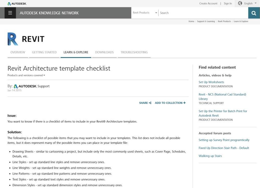 REVIT Best Practices – Creating a Project Template Part 1