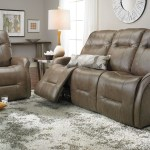 Haynes Furniture Leather Reclining Sofa With Power Headrests