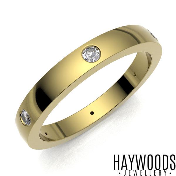 Yellow Gold Flush Set Eternity Ring