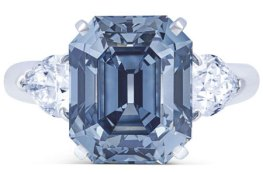 Exceptional Blue Diamond Ring by Moussaieff