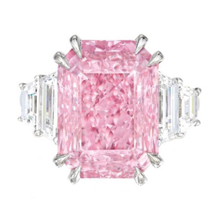 Exquisite Pink Diamond Ring