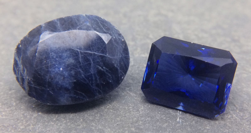 Treated and Synthetic Blue Sapphires