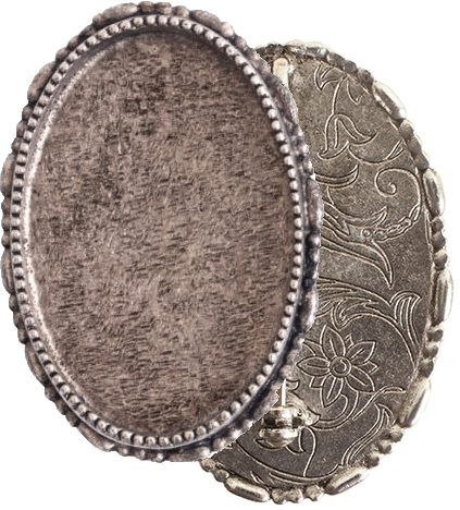 brooch base nickel