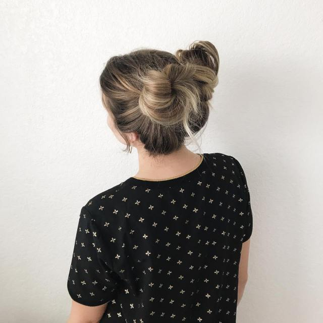 I tried my hand at some space buns the otherhellip