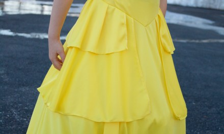 DIY Knit Live Action Belle Dress