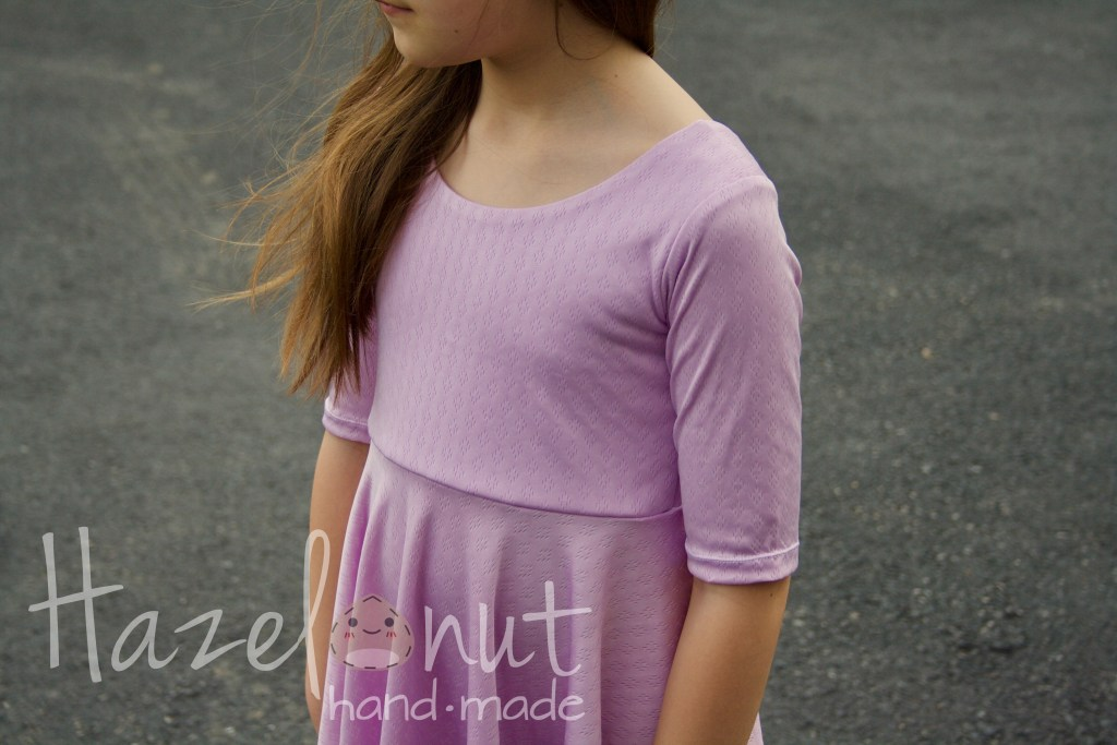 Lavendar Knit Fit and Flare