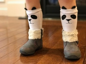 Cozy Critter Panda Socks by Hazelnut Handmade