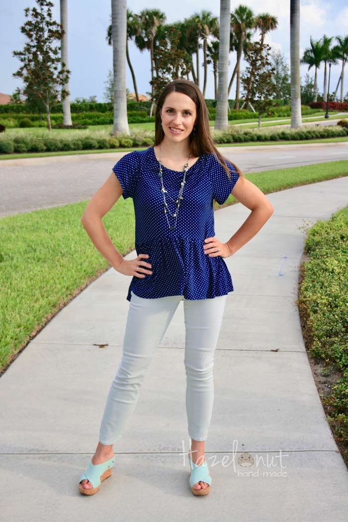 Rivage Raglan Peplum with Hazelnut Handmade