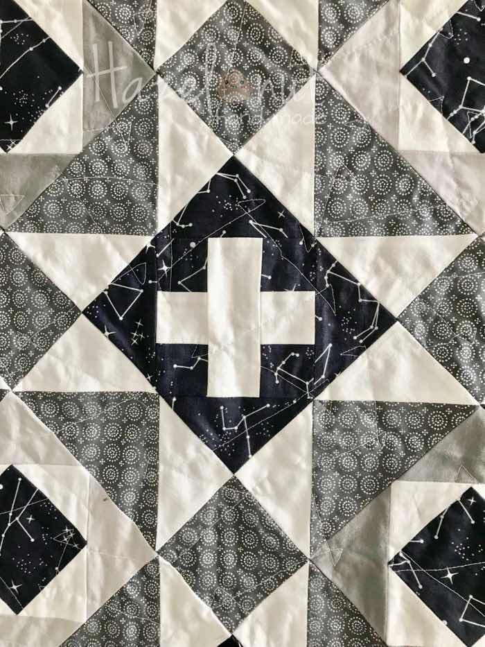 Nordic Crossing Quilt with Hazelnut Handmade