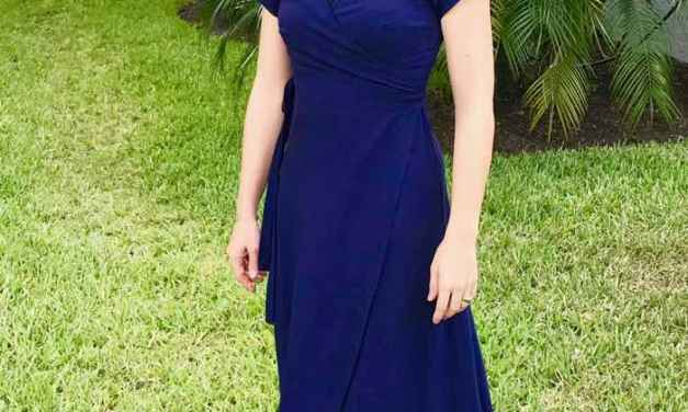 Navy Boardwalk Wrap Dress