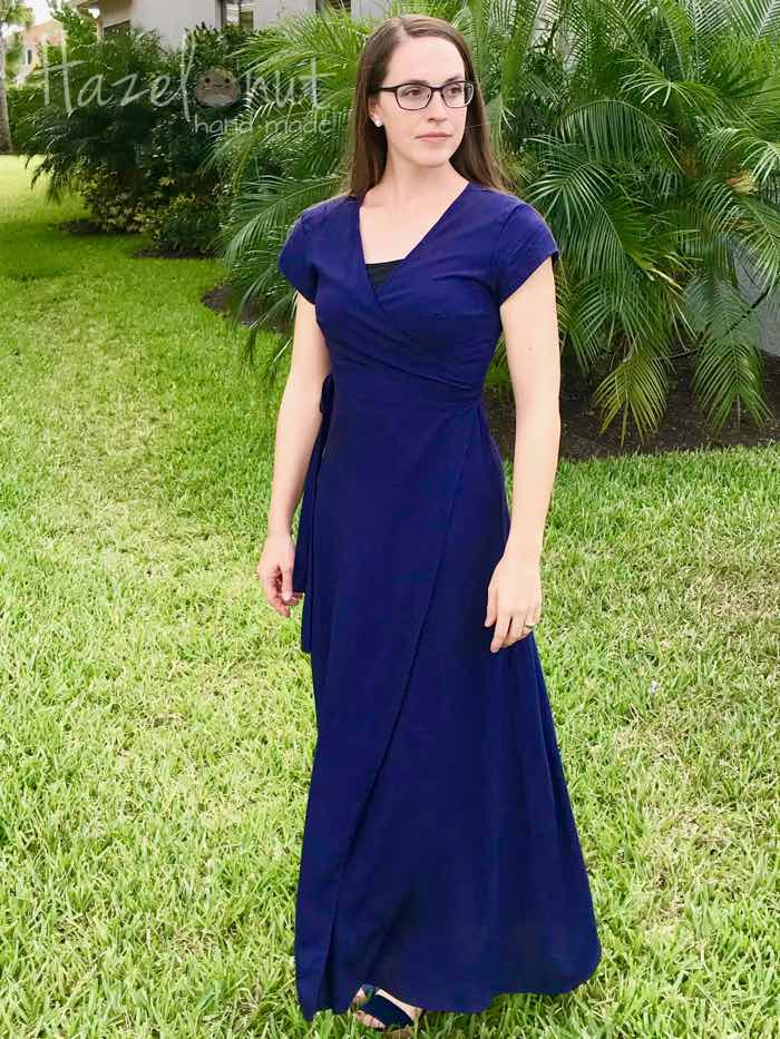 Navy Boardwalk Dress by New Horizons Designs with Hazelnut Handmade