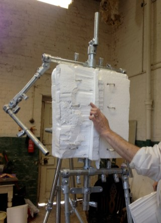 Adding polystyrene to the Gresley armature