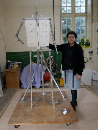 Hazel Reeves with the Gresley armature structure