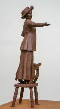 Emmeline Pankhurst maquette by Hazel Reeves