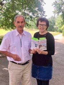 Hazel and author Hunter Davies