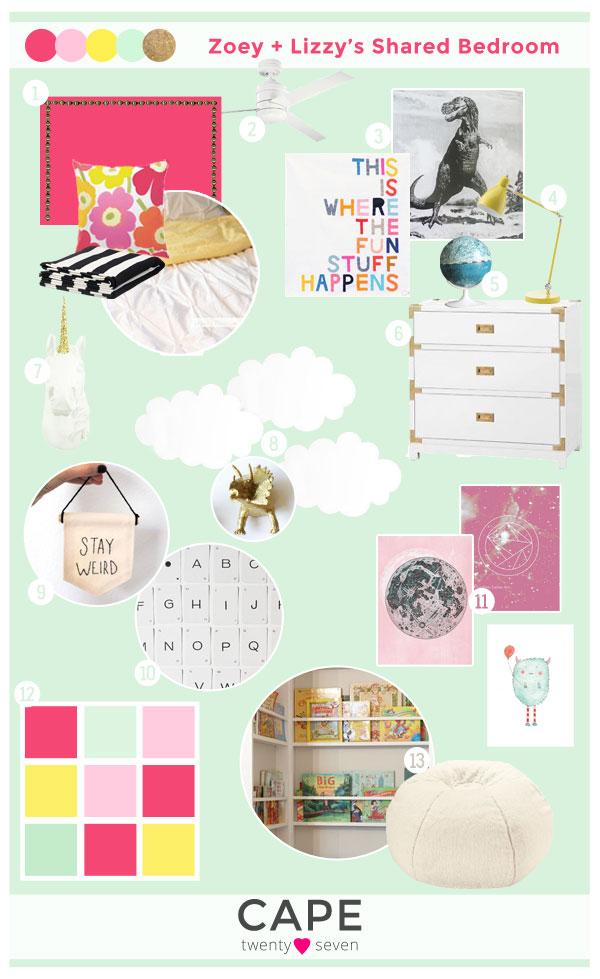 Girls' Shared Bedroom | Cape27Blog.com