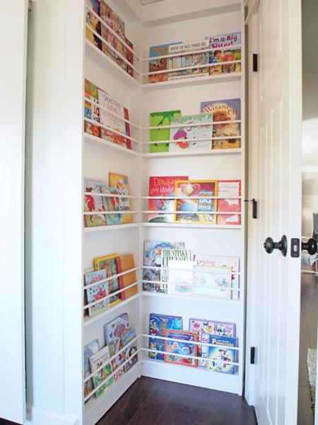Corner Book Storage | Hazelwood Homes