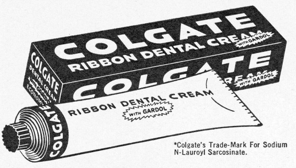 storia del dentifricio - pubblicità colgate fine '900