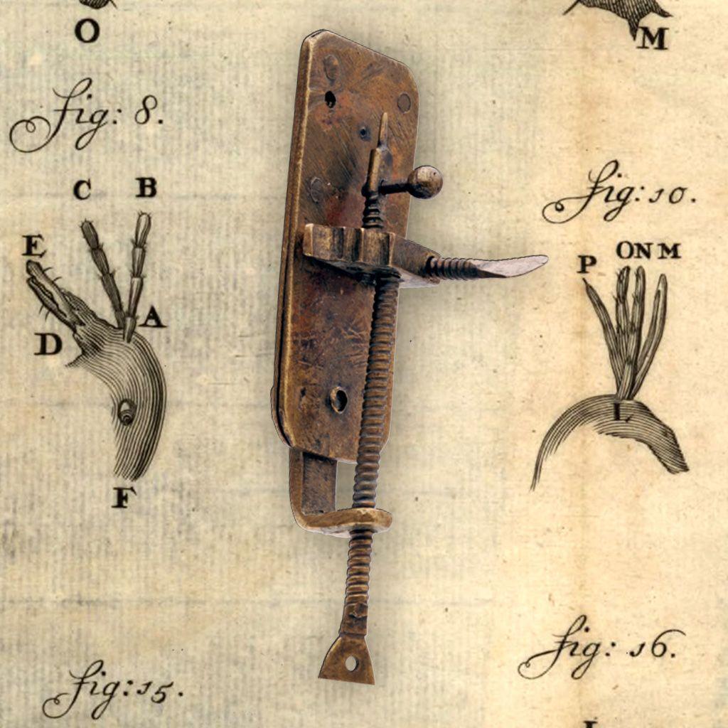 L'inventore del microscopio - strumento antico