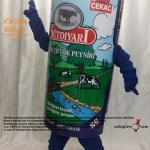 Peynir Kutusu Maskot kostümü / Süt Diyarı / Danimarka