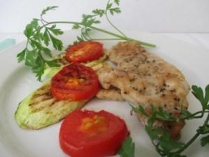 Grillezett csirkemell zöldségekkel