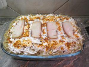 Rakott káposzta sütés előtt