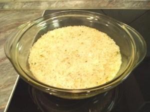 Párolt rizs készen