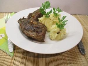 Krumplipüré sült krumpliból