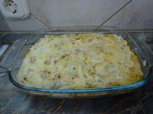 Lasagne sütés előtt