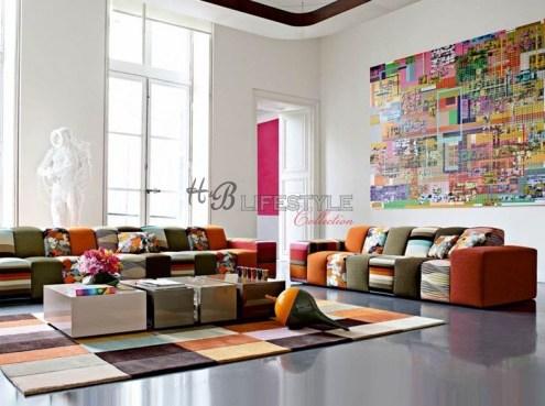 Kleuren bank wereldse stijl
