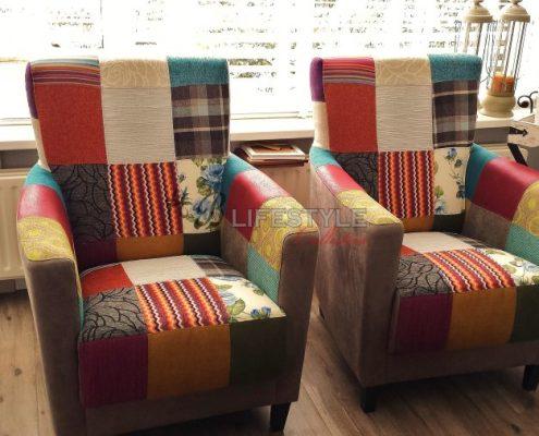 Aparte fauteuils patchwork