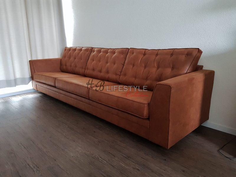 Cognac Kleurige Leren Hoekbank.Cognac Kleur Bank Hb Lifestyle Collection