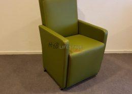 Eetkamer fauteuil groen