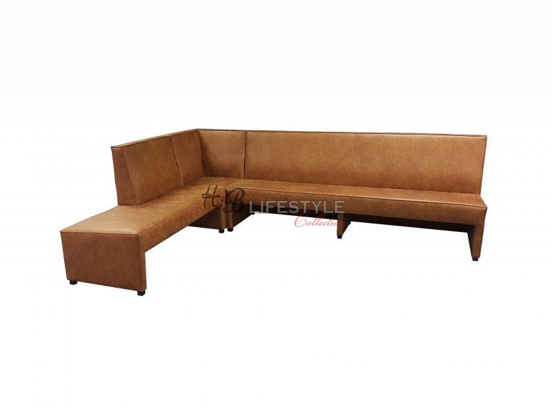 Model-Mondiaal-eetkamer-hoek-bank-cognac-leer - HB Lifestyle Collection