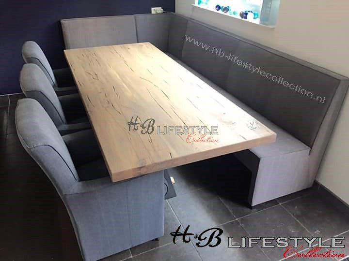 Super Eettafel hoekbank - HB Lifestyle Collection AV-47