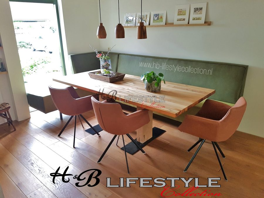 Eetkamer hoekbank op maat - HB Lifestyle Collection