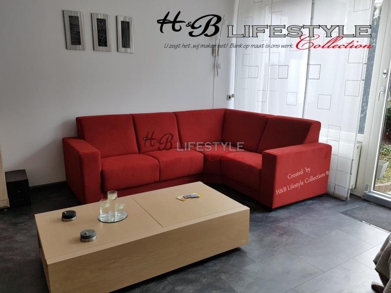 Rode Hoekbank Stof.Kleine Hoekbank Ideaal Voor Grote En Kleine Kamers Hb Lifestyle