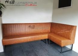 Luxe eetkamerbank op maat industriele stijl