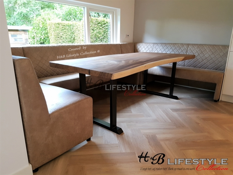 Eetkamer Hoekbank Leer.Eetkamer Hoekbank Op Maat Hb Lifestyle Collection