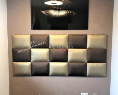 gestoffeerde panelen op maat slaapkamer