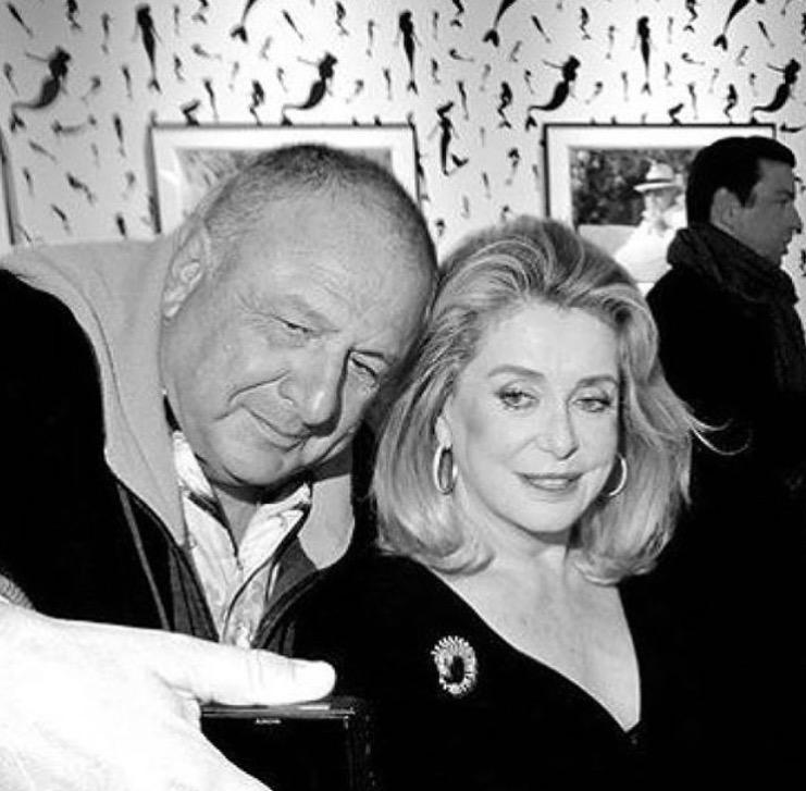 Johnny Pigozzi with Catherine Deneuve at the event
