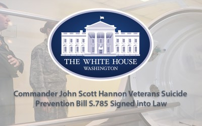 Veterans Suicide Prevention Bill S.785 Signed into Law Expands the VA's Research into HBOT