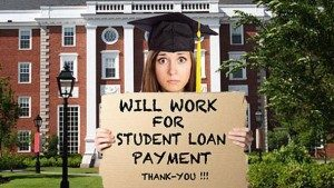 Work for student loan payment