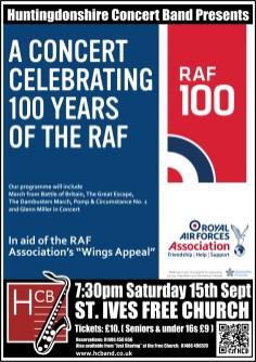 2018 RAFA Concert poster