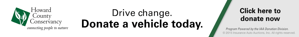Click to donate your vehicle to the Howard County Conservancy