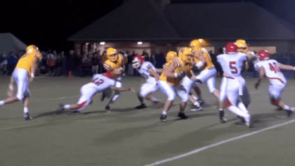 Football team defeats Lyons Township
